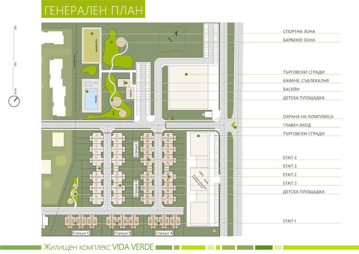 Генерален план на жилищен комплекс VIDA VERDE